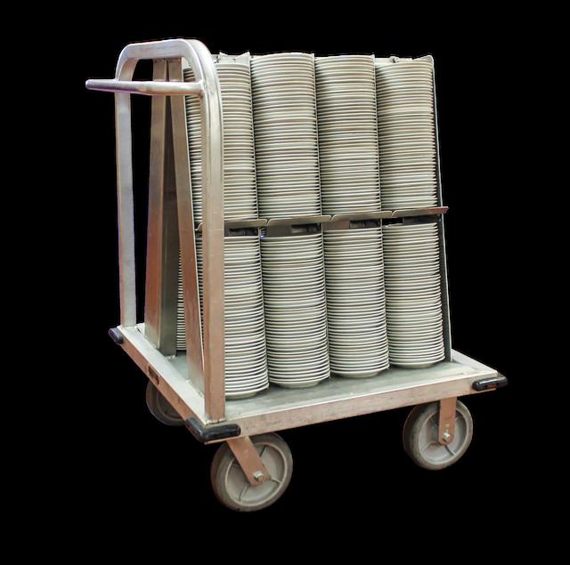 Square China Cart Plates and Bowls
